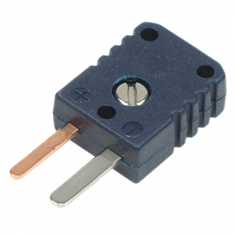 Miniaturstecker Typ T, blau