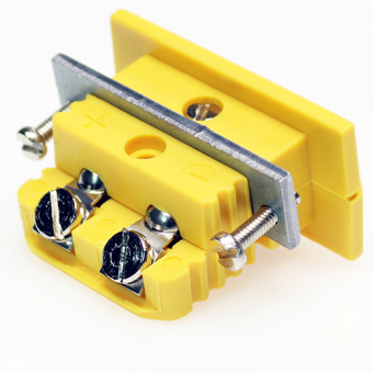 Standard panel socket, type K, yellow