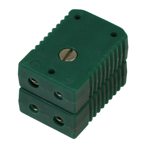 Standard double socket, type K, green