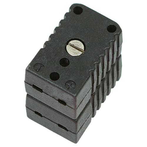 Miniature double socket, type J, black