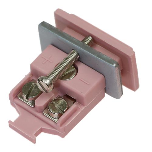 Miniature panel socket, type N, pink