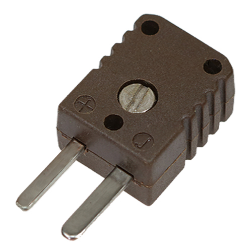 HTK-miniature thermocouple connector, type J, brown, high temperature