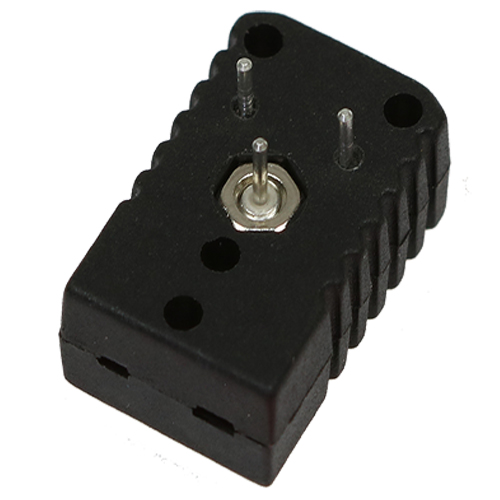 Miniature socket for PCB (printed circuit board) mounting, type J, black