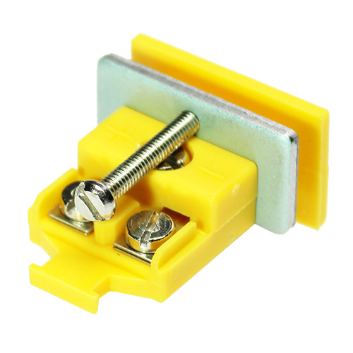 Miniature panel socket, type K, yellow