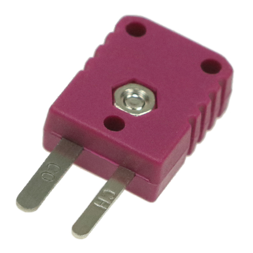 Miniature thermocouple connector type E, violet