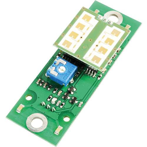 Radar motion detector module with signal evaluation