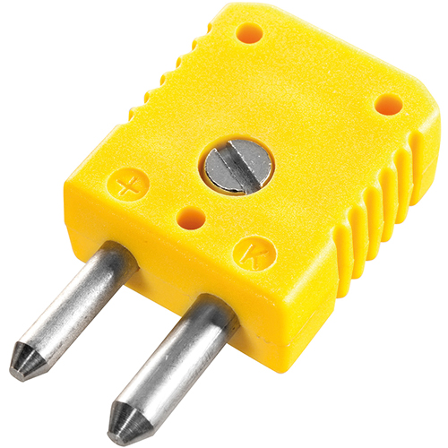 Standard thermocouple connector, type K, yellow